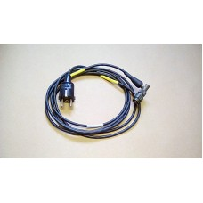 CABLE ASSY AC POWER EURO SOCKET TO SMALL 3 PIN FEMALE MILITARY